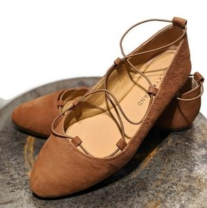 LUCKY BRAND AVIEE STRAPPY FLATS